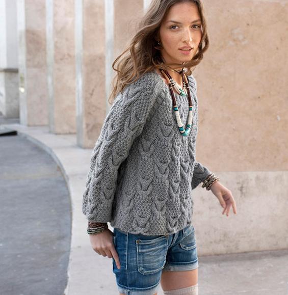 Modele de pull en laine pour femme - julie bas