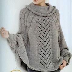 modele de poncho femme a tricoter gratuit