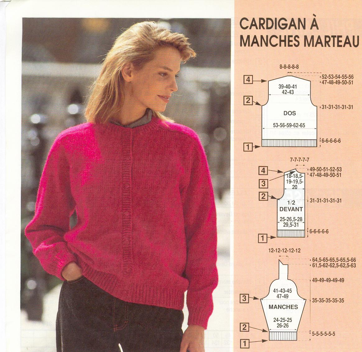 patron pull tricot