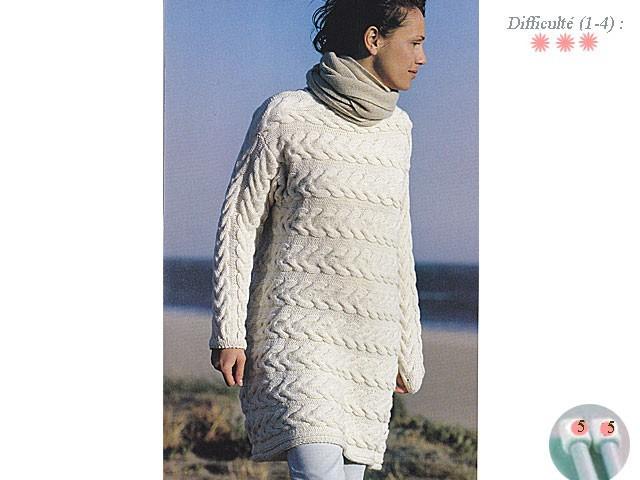 modele tricot tunique femme