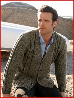 gilet pour homme a tricoter