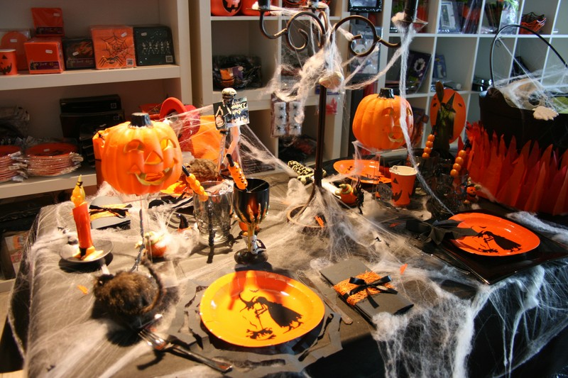 Decoration De Table Pour Halloween Fait Maison : Deco table halloween simple