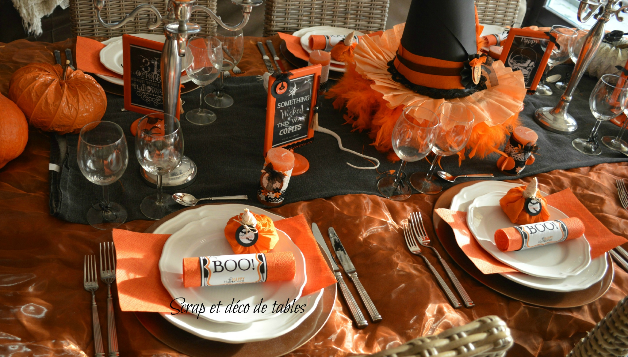 deco de table theme halloween julie bas. Black Bedroom Furniture Sets. Home Design Ideas