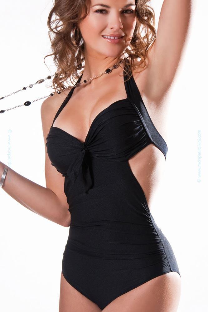 maillot de bain femme une piece noir julie bas