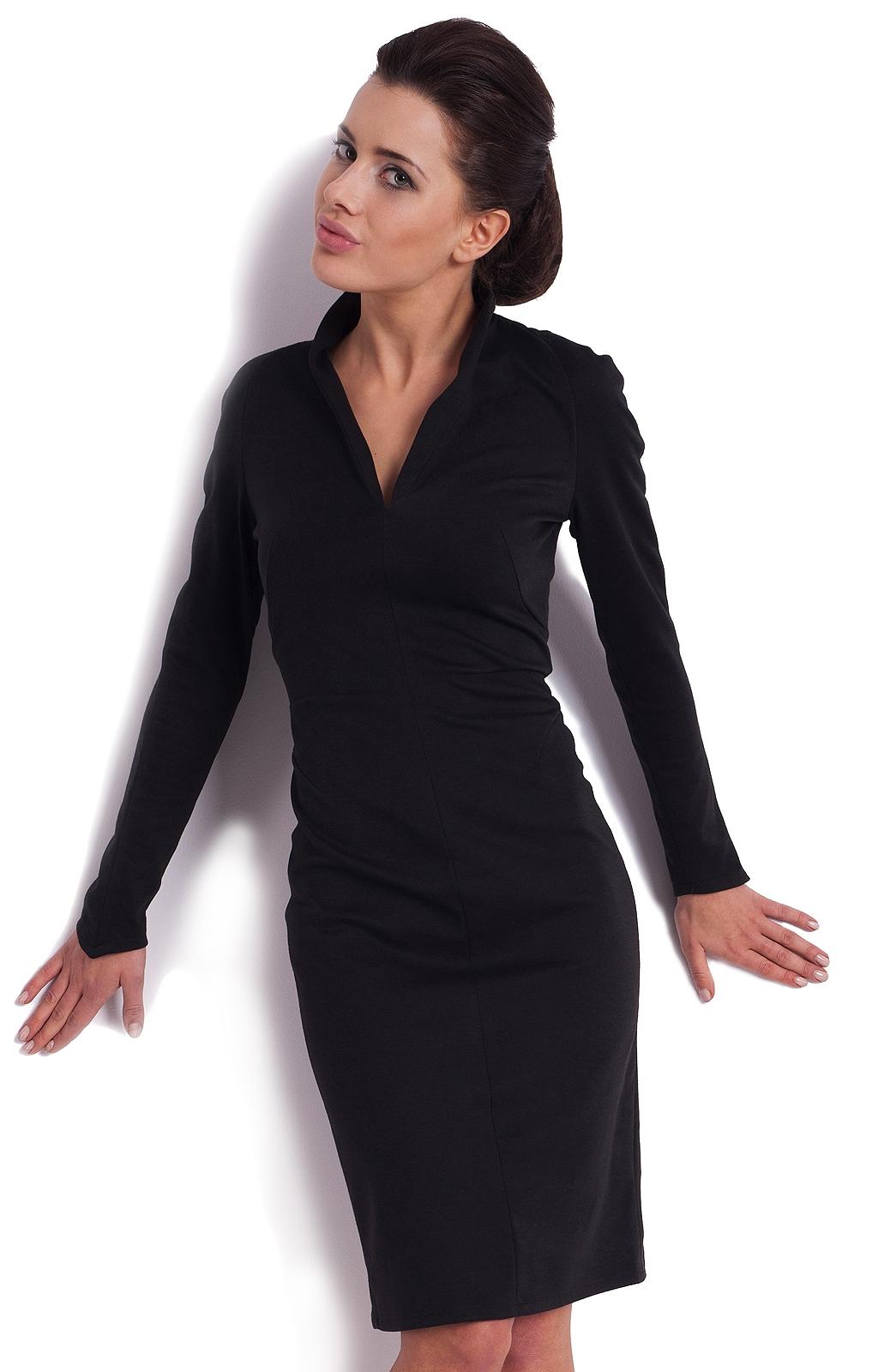 78ad214ac02 Voici une sélection de robe automne hiver pour vous     . Robe noire fluide  manches longues