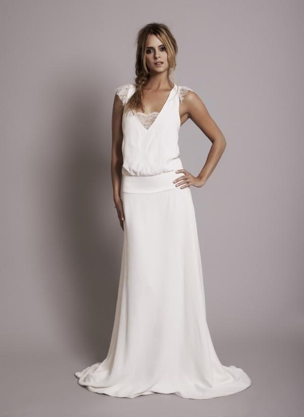 dbfd5ff0344 Robe longue boheme chic pour mariage - julie bas