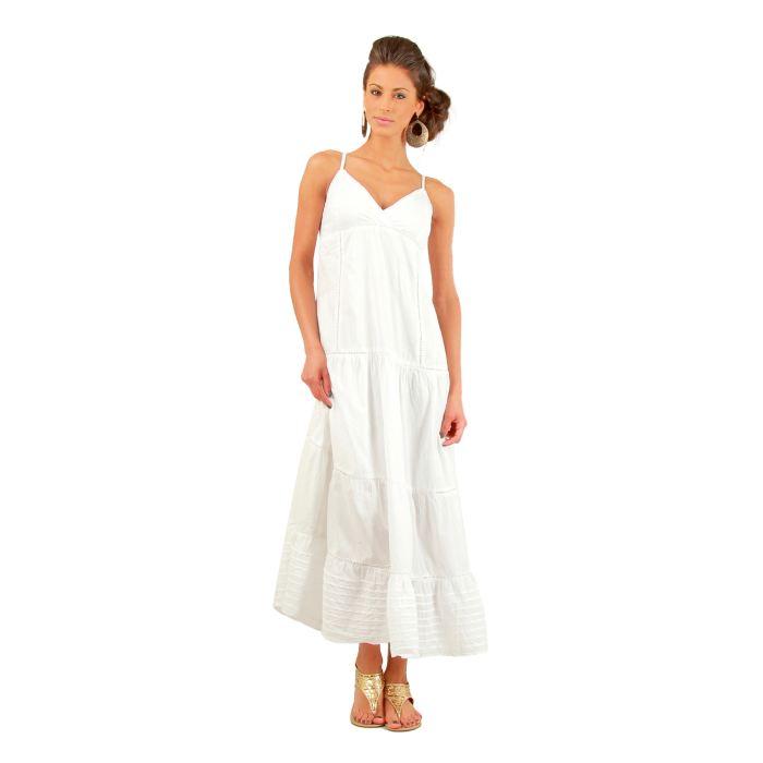 43c19997bb5 Voir le produit sur Amazon. Robe blanche coton longue