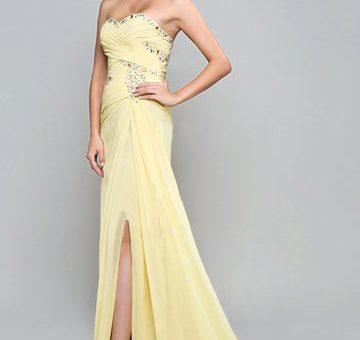 57ce67ff6d01 Robe longue jaune pastel - julie bas
