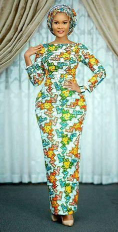 Model avec pagne africain