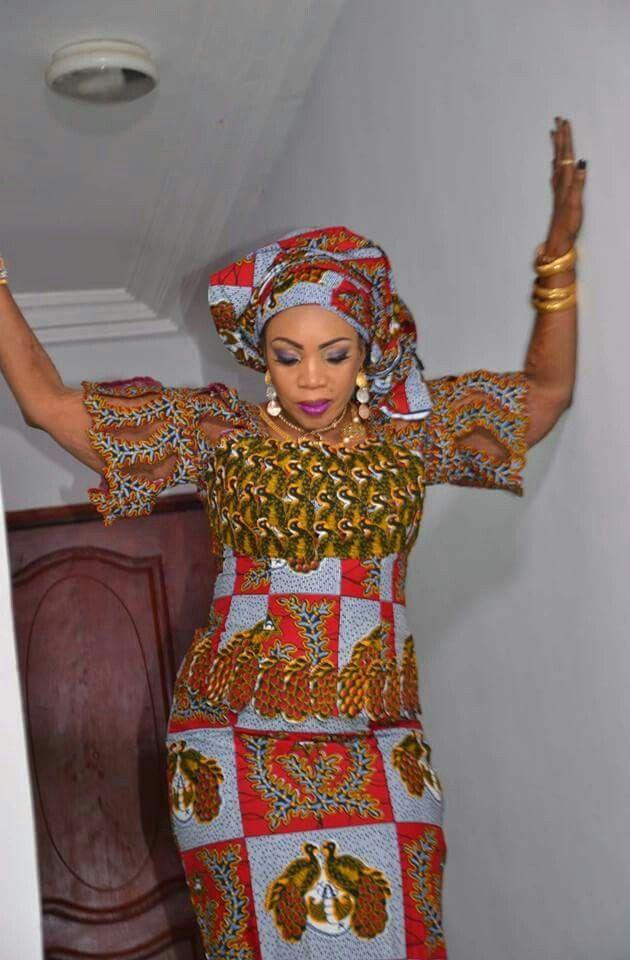 Model de couture ivoirienne en wax