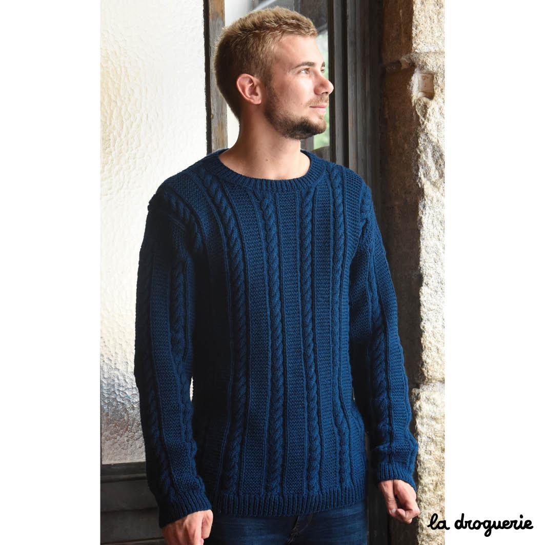 Pull homme tricot modele gratuit