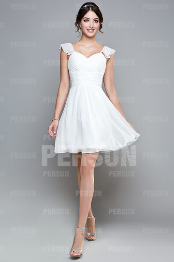 Robe blanche chic pas cher