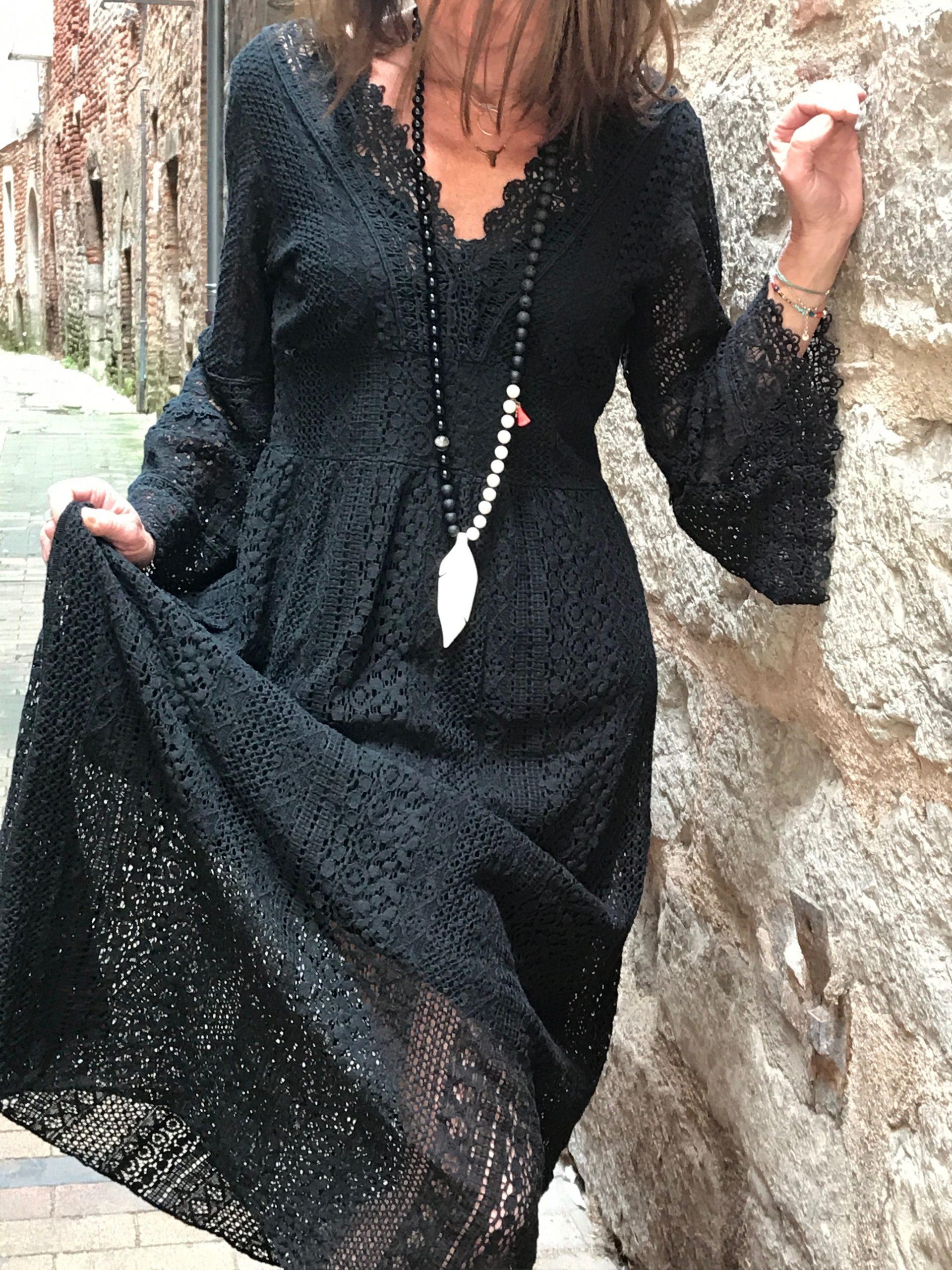 Robe longue boheme noire