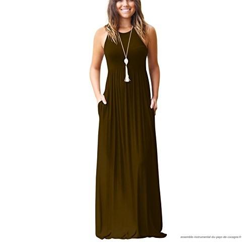 Robe longue coton femme