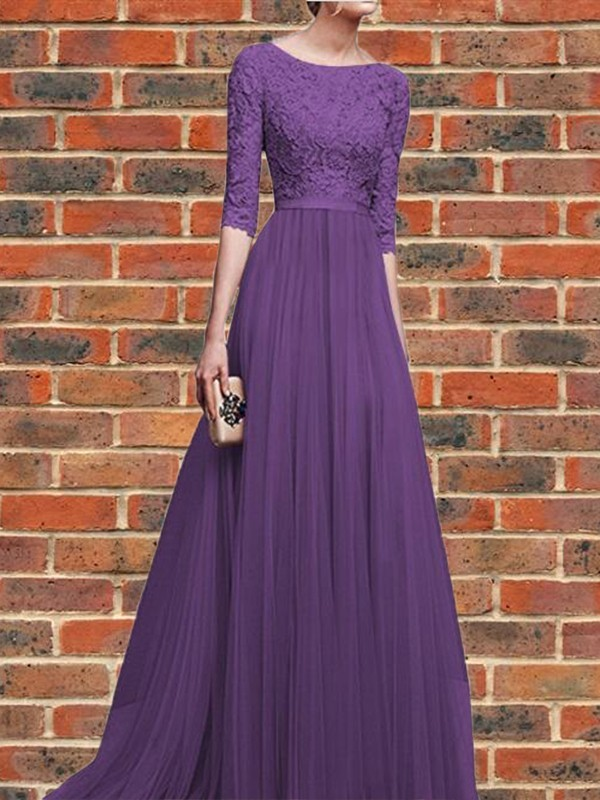 Robe longue violette