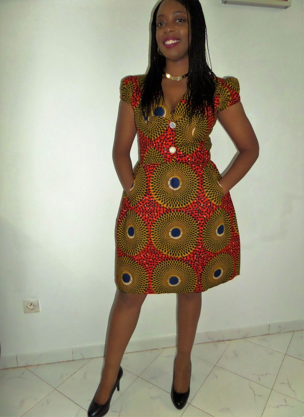 Robe pagne africain 2016
