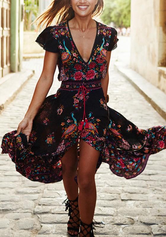 Robe vintage hippie