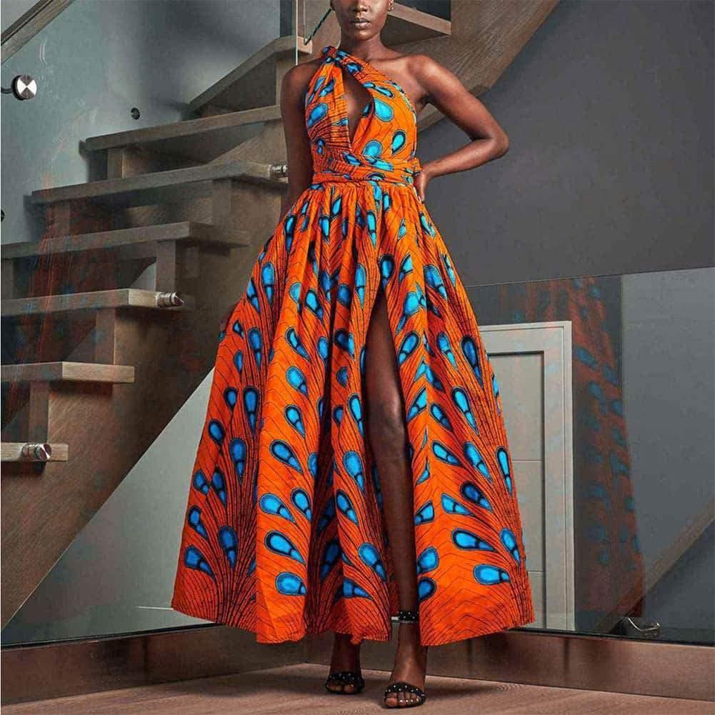 Wax robe africaine