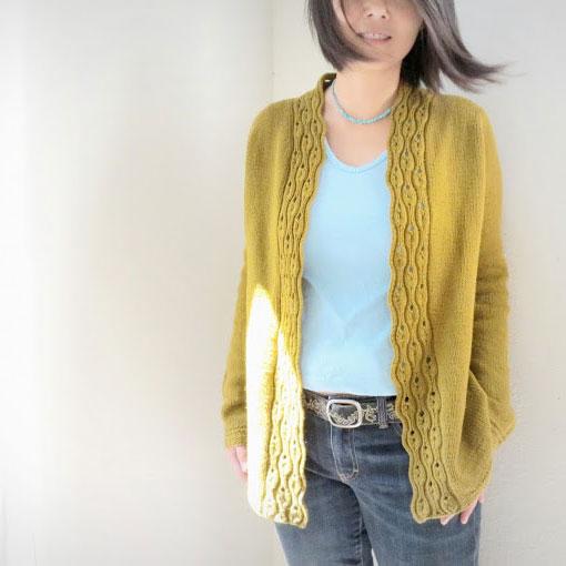 Gilet a tricoter