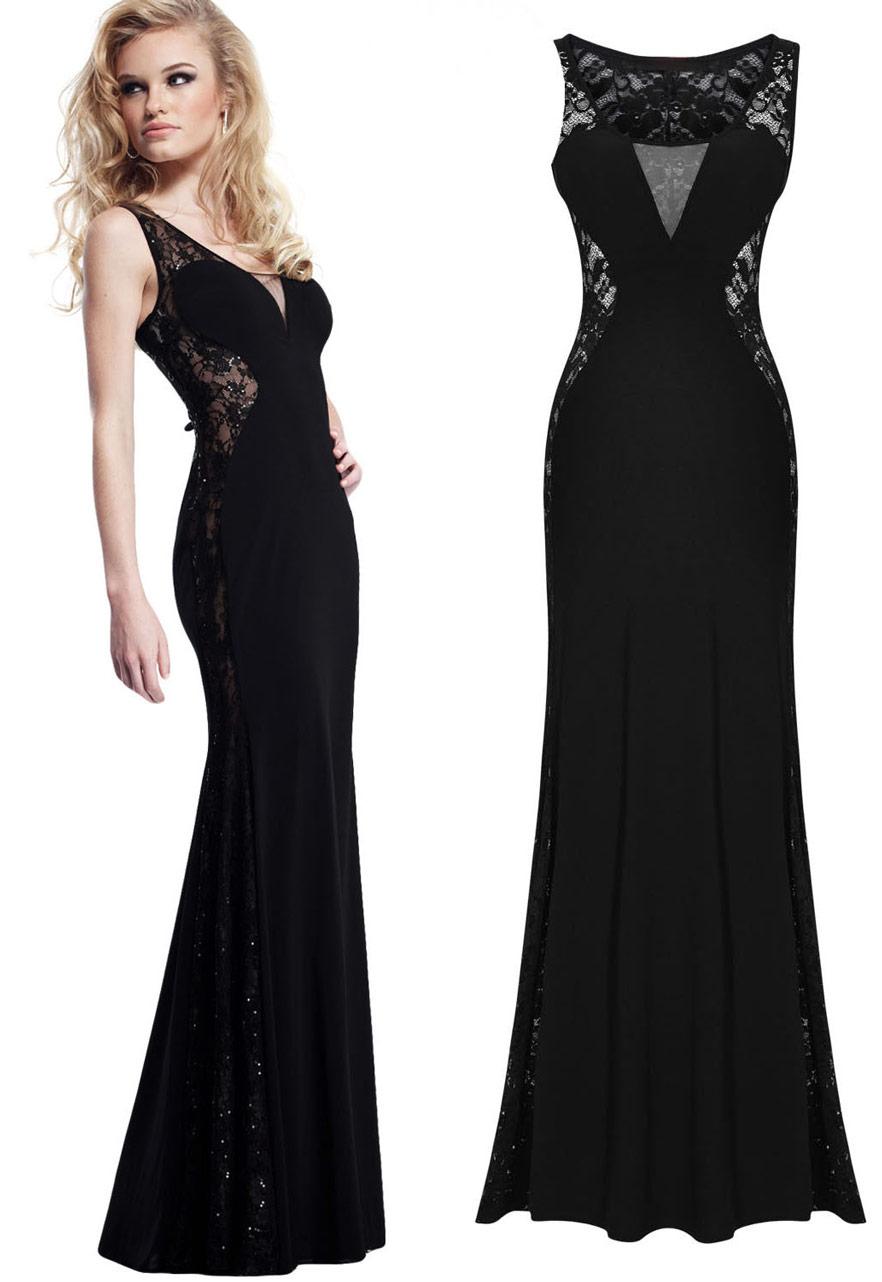 Longue robe noire