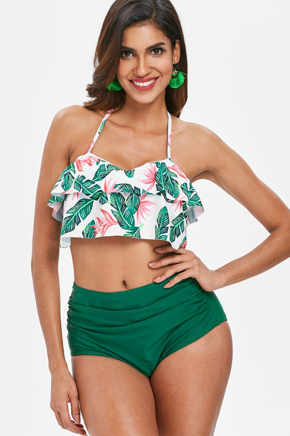 Maillot 2 pieces taille haute