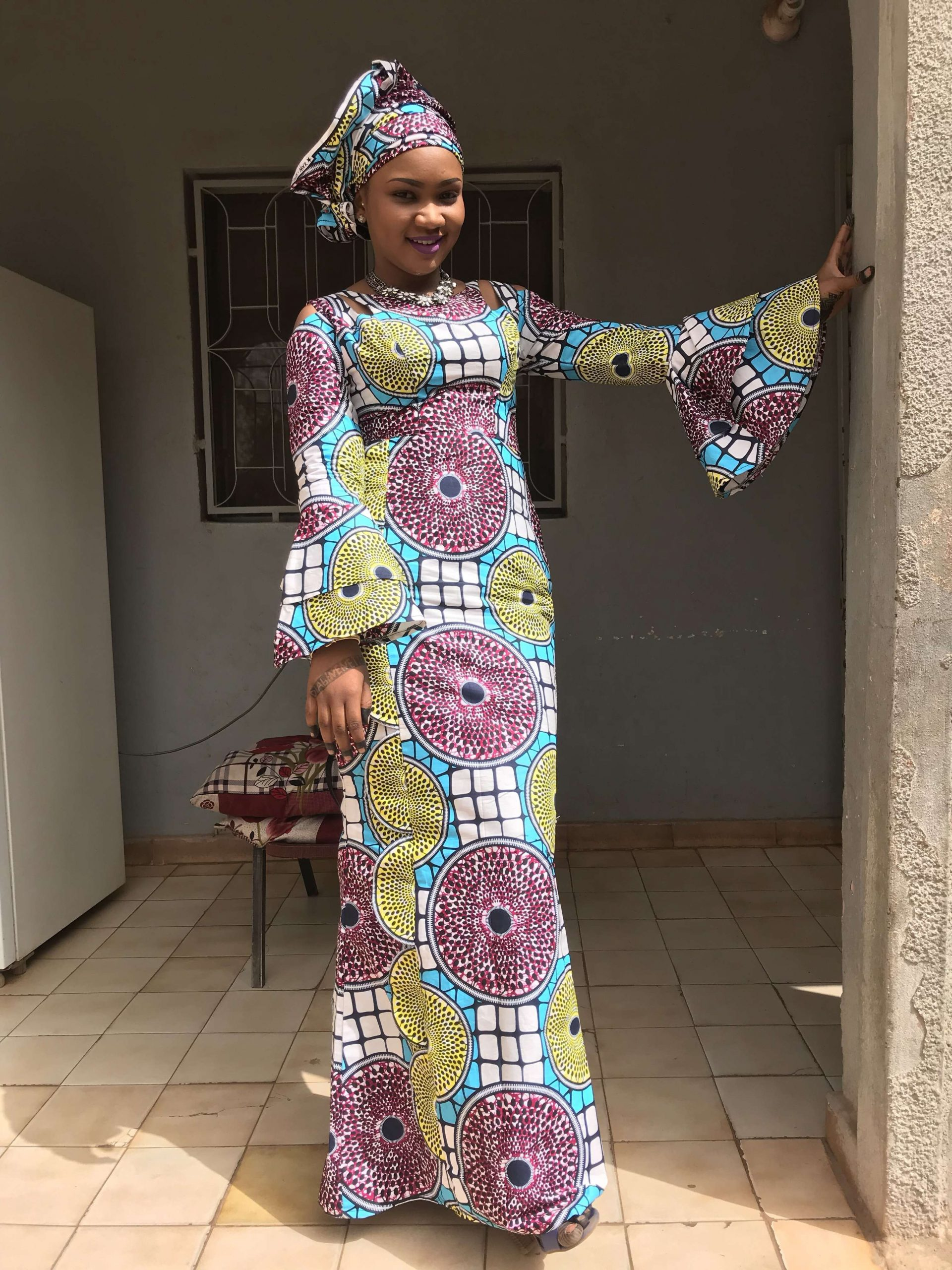 Model pagne africain robe longue
