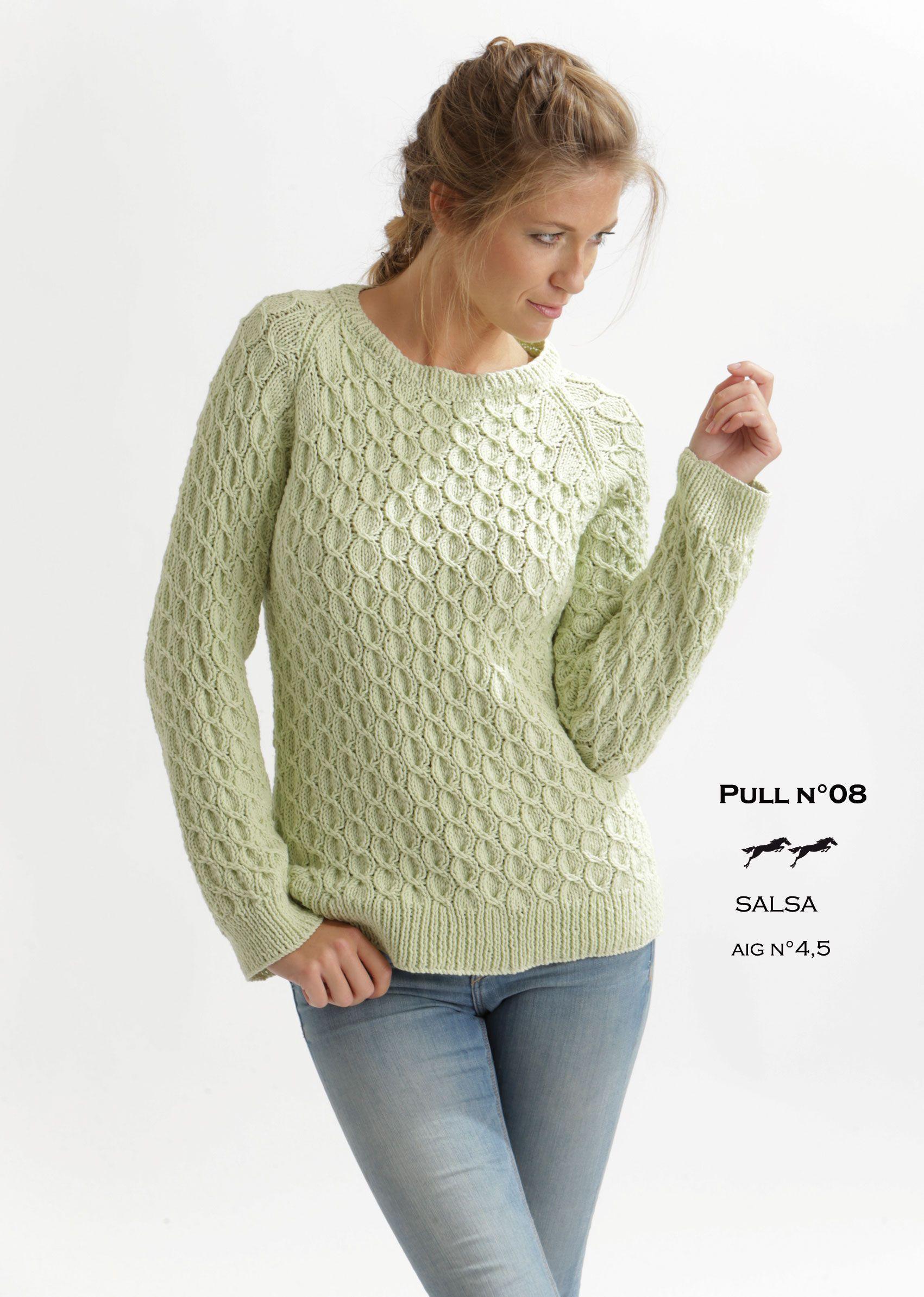 Modele de pull à tricoter gratuit