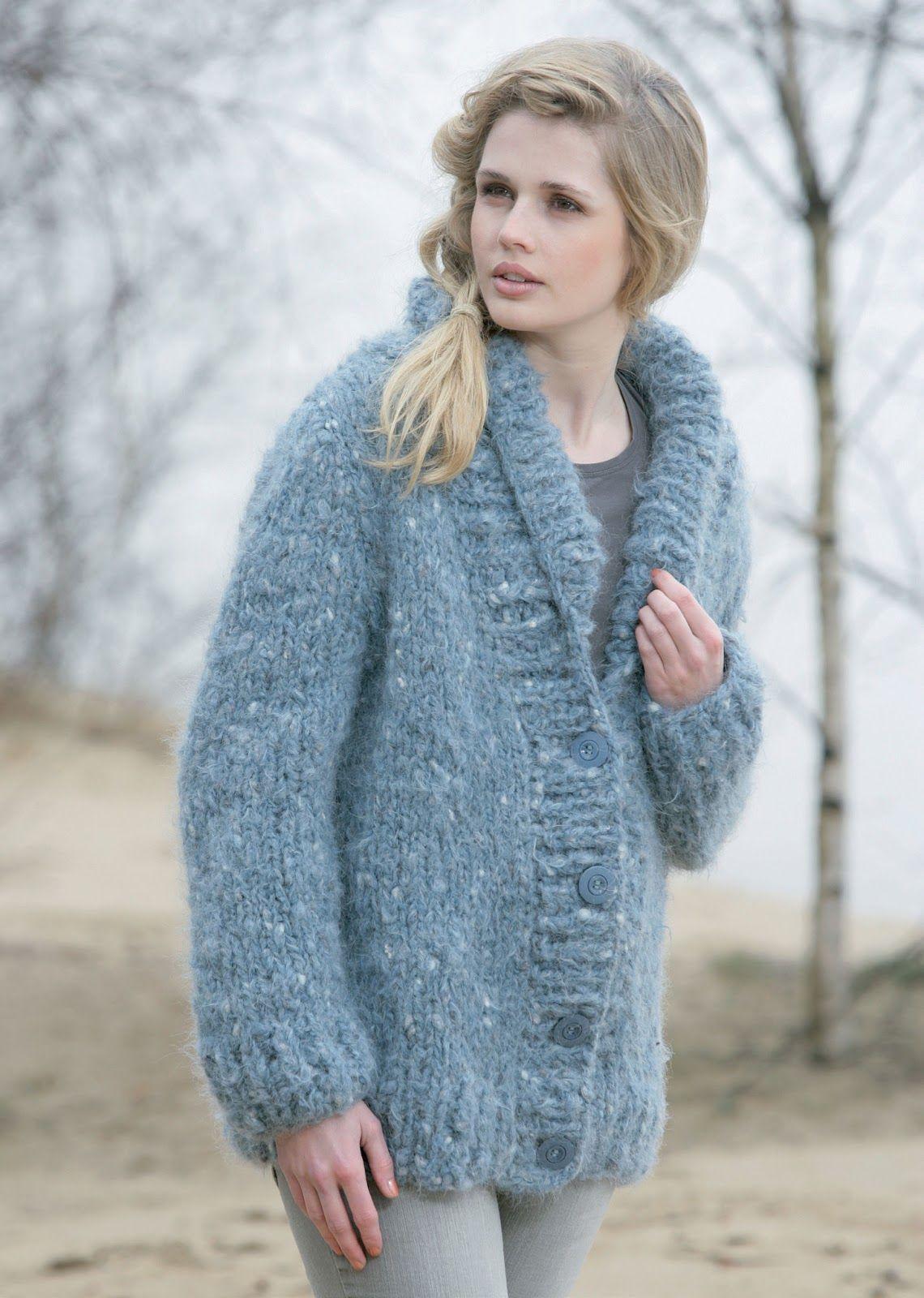 Modele de veste en tricot pour femme