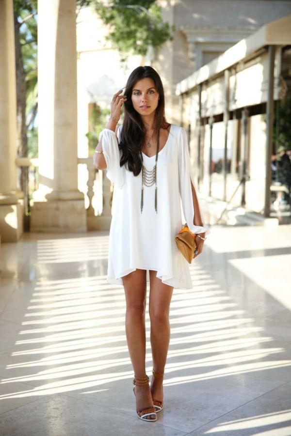 Robe courte style boheme