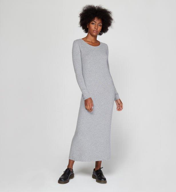 Robe droite longue femme