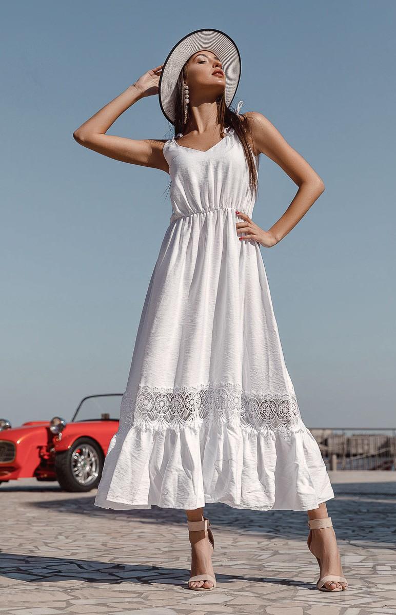 Robe ete longue blanche
