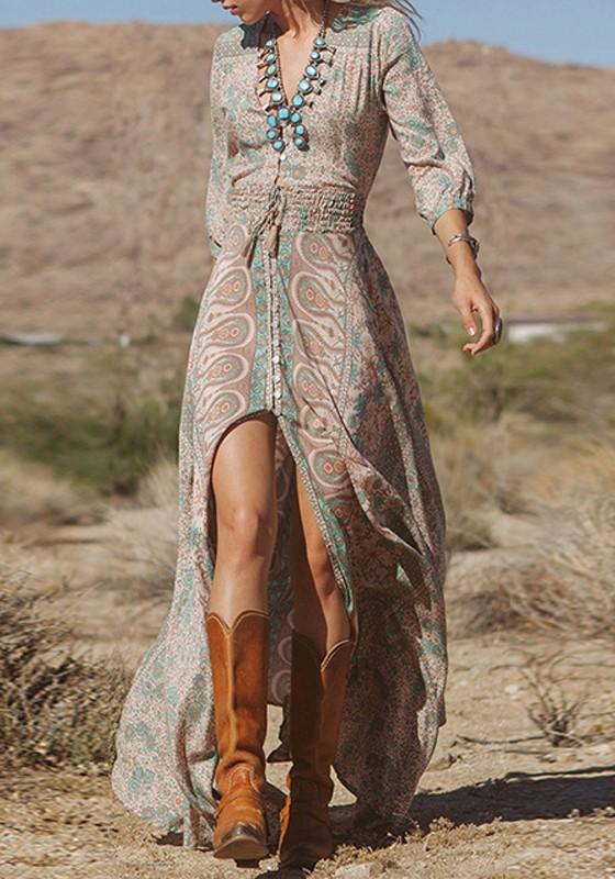 Robe hippie chic longue