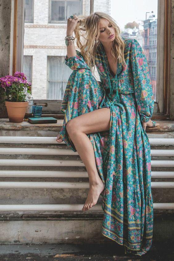 Robe longue boheme chic 2016
