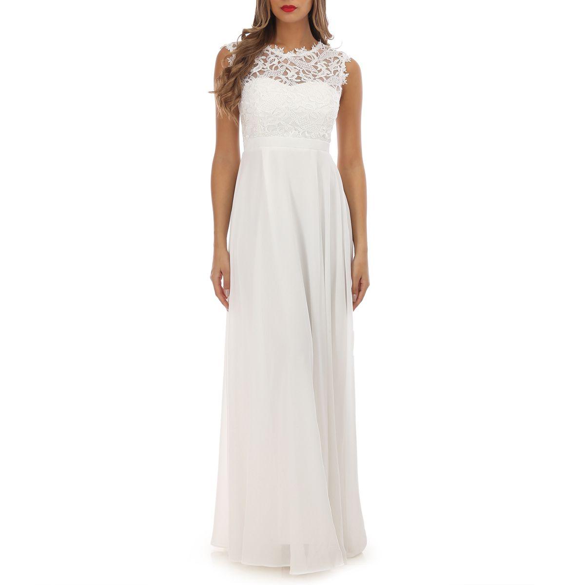 Robe longue et blanche