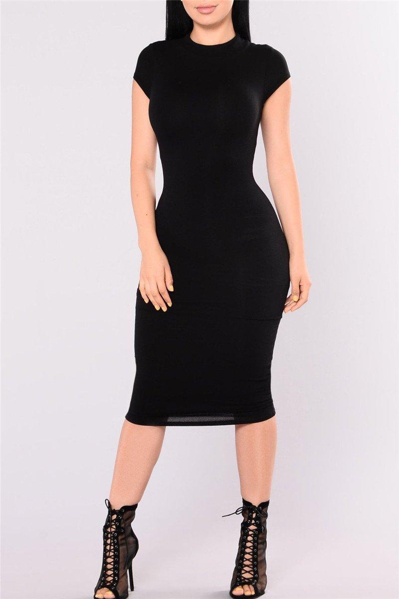Robe noir simple longue
