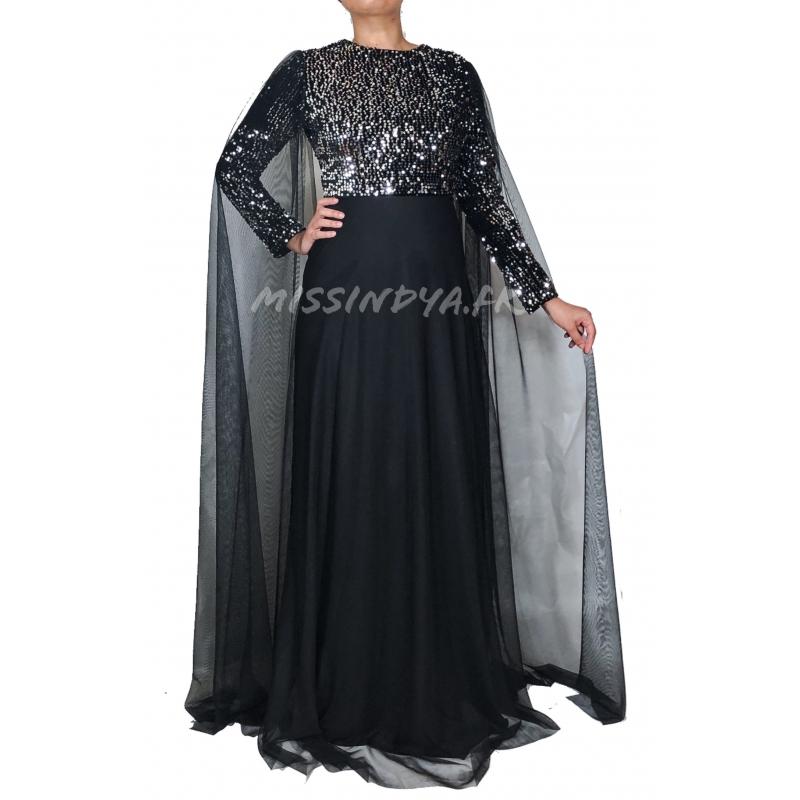 Robe noire de soirée pas cher