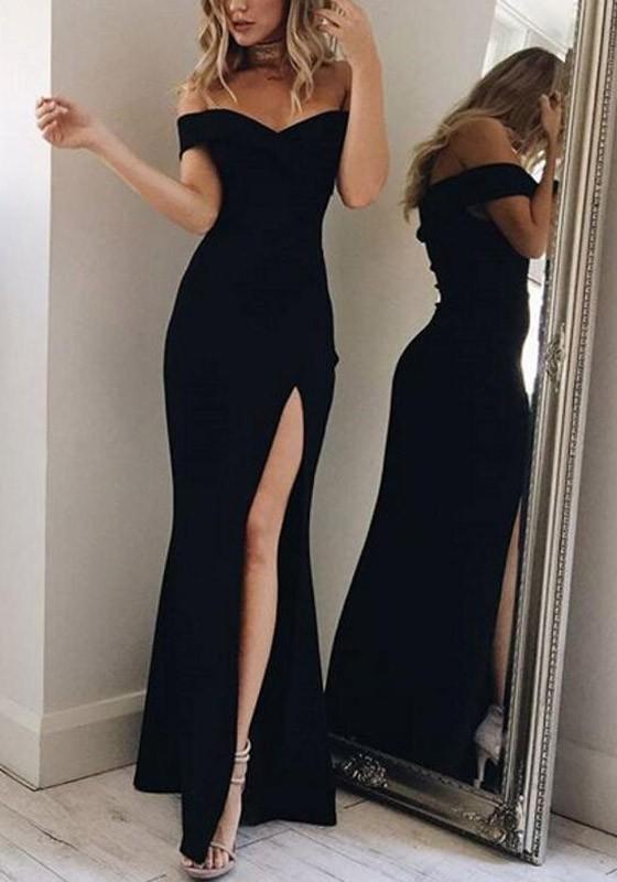 Robe noire de soirée
