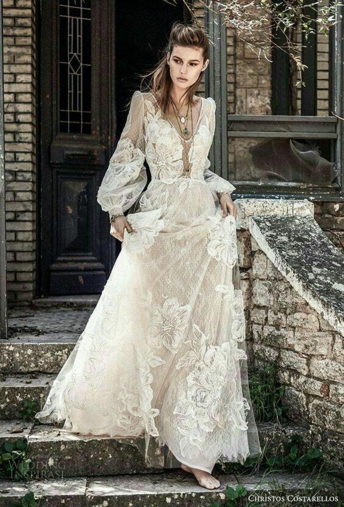 Robe romantique longue