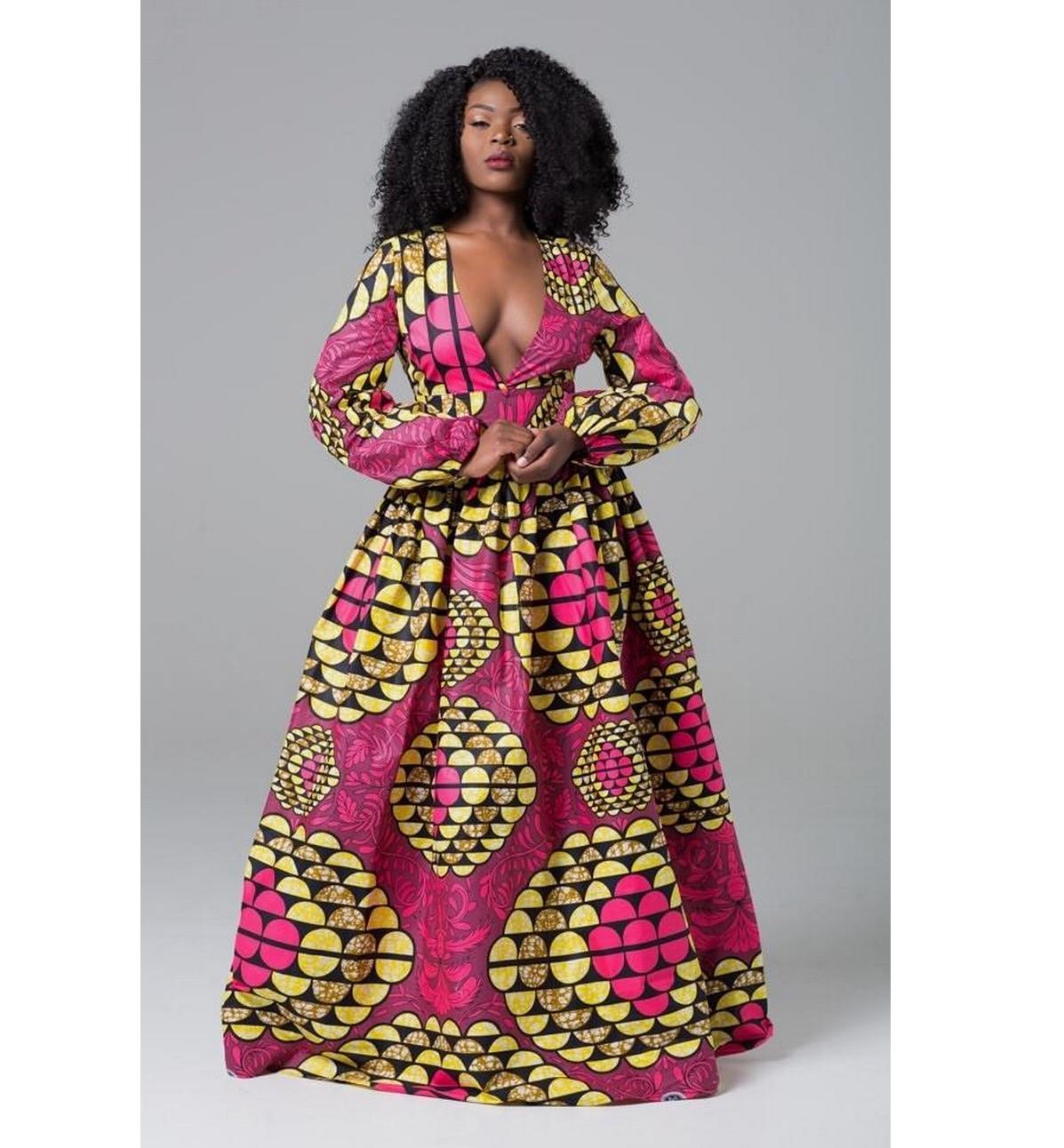 Robe soirée pagne africain