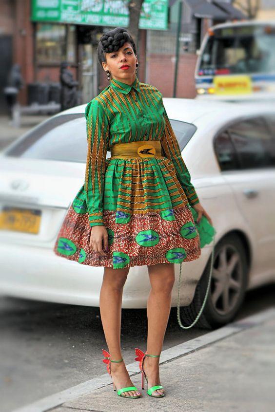 Tenue africaine moderne femme