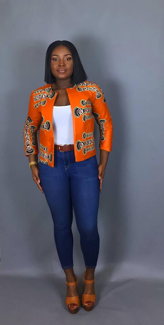 Veste imprimé africain