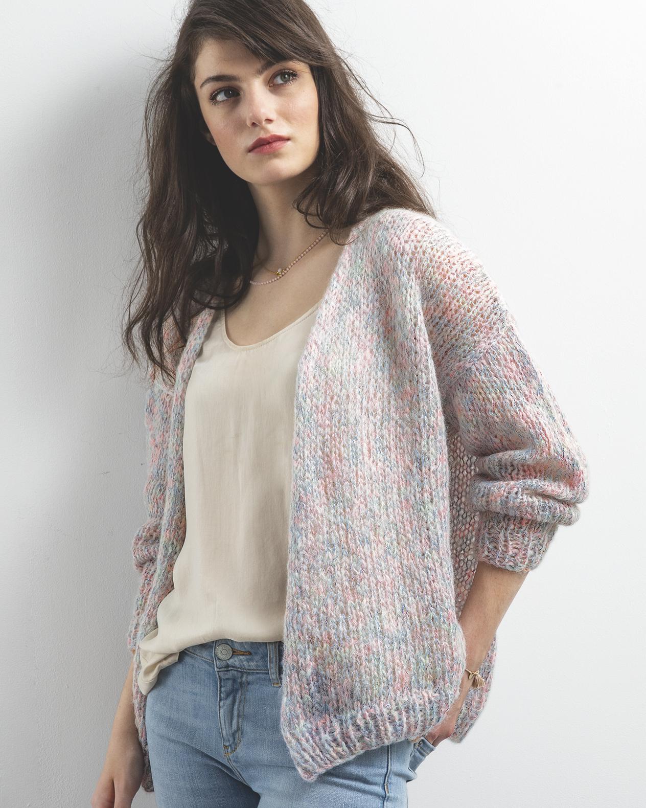 Modèle gilet tricot femme