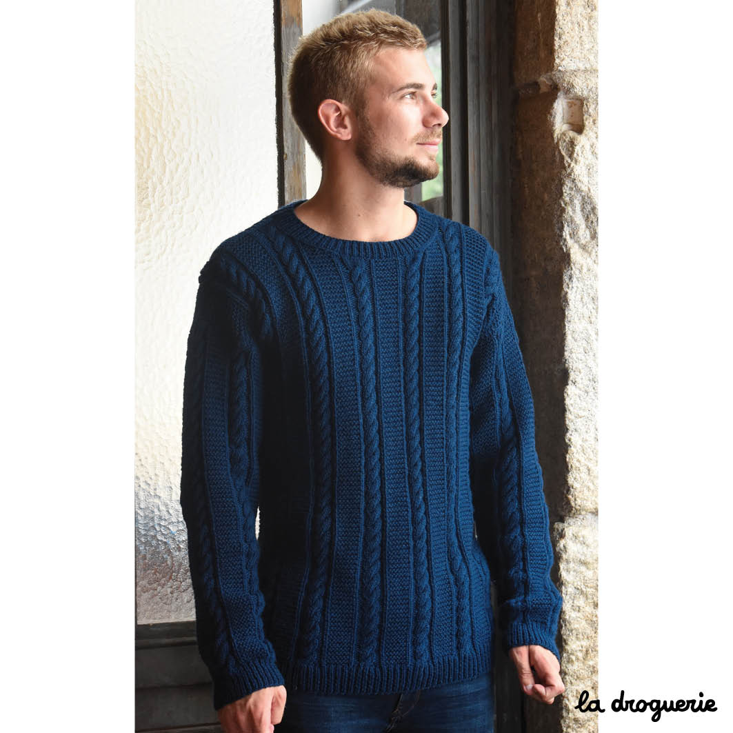 Modèle pull homme tricot