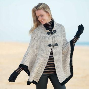 Modele cape tricot femme
