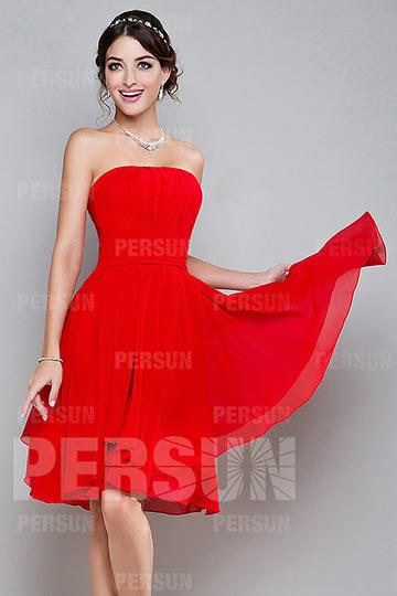 Petite robe rouge pas cher
