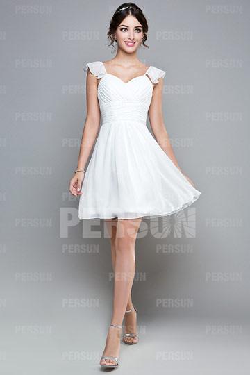 Robe blanche courte pas cher