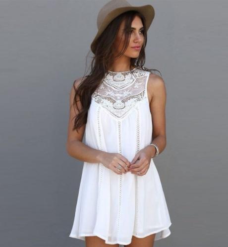 Robe blanche ethnique