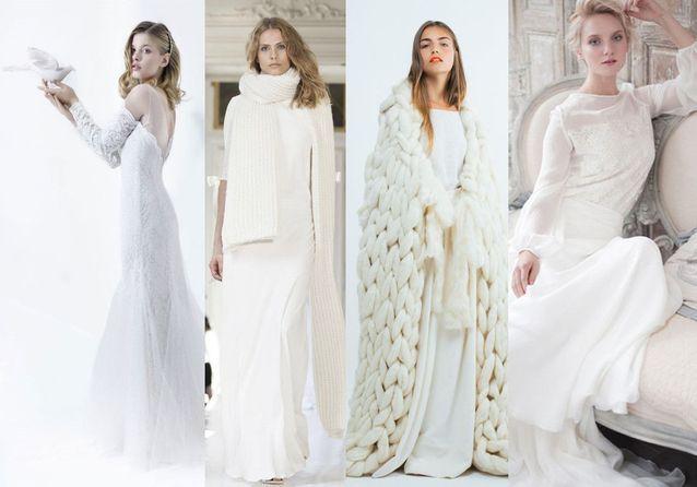 Robe de mariée d hiver