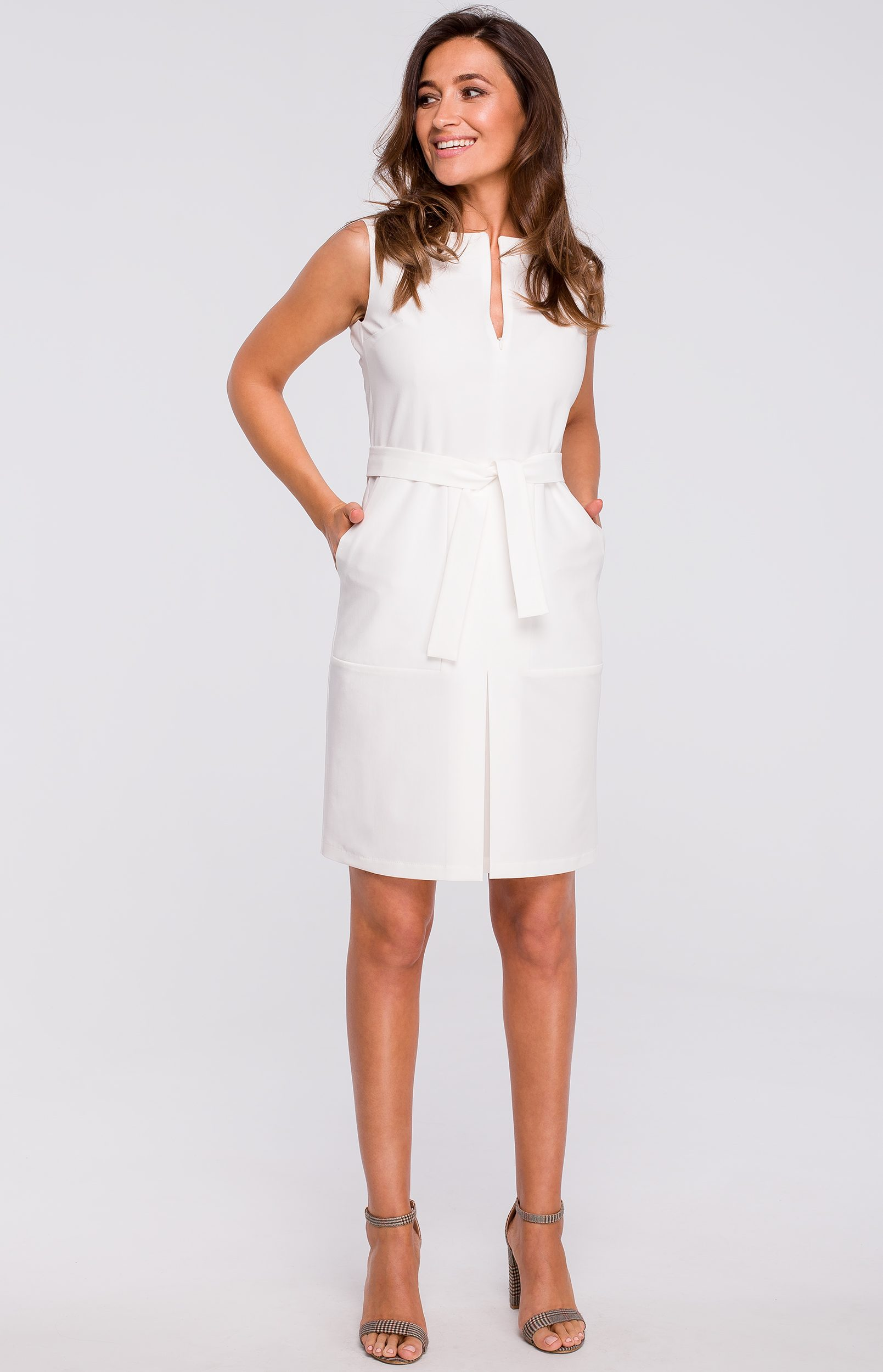 Robe fourreau blanche