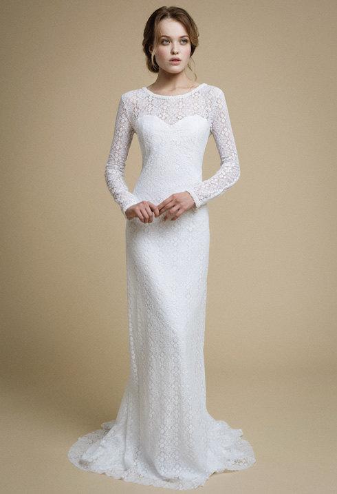 Robe longue simple blanche